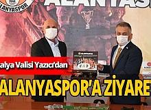 Antalya Valisi Ersin Yazıcı Aytemiz Alanyaspor'u ziyaret etti
