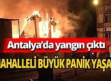 Balbey'de bulunan metruk binada yangın çıktı