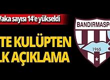 Bandırmaspor'da vaka sayısı 14'e yükseldi