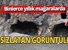 Binlerce yıllık Frig vadisi mağaralarında çirkin görüntüler