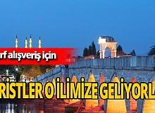 Bulgar vatandaşlar alışveriş için Edirne'ye akın ediyorlar