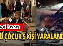 Bursa-Ankara kara yolunda feci kaza! 3'ü çocuk 5 kişi yaralandı