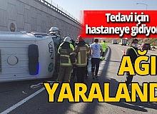 Bursa'da 6 metre yükseklikten düşen ambulansın içindeki hasta ağır yaralandı
