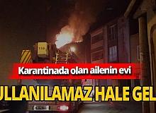 Bursa'da karantinada olan ailenin evi yangında kullanılamaz hale geldi