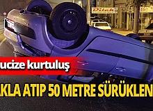 Bursa'da mucize kurtuluş! Takla atan otomobilde burnu bile kanamadı