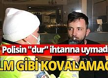 Bursa'da sokağa çıkma kısıtlamasına uymayan alkollü sürücü kovalamaca sonucu yakalandı