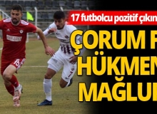 Çorum FK hükmen mağlup oldu!