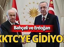 Cumhurbaşkanı Erdoğan ve Devlet Bahçeli'den KKTC ziyareti