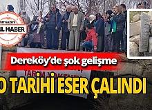 Dereköy'deki tarihi eser çalındı