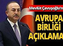 Son dakika! Dışişleri Bakanı Mevlüt Çavuşoğlu'ndan AB'ye çağrı!