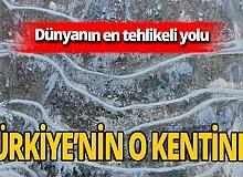 'Dünyanın en tehlikeli yolu' Trabzon'da