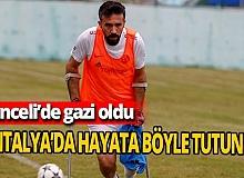 Gazi Savaş Kaya ampute futbolla yaşamına devam ediyor