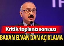 Hazine ve Maliye Bakanı Lütfi Elvan'dan TÜSİAD toplantısı ile ilgili açıklama