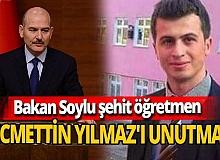 İçişleri Bakanı Süleyman Soylu, resmi hesaplarına Şehit öğretmen Necmettin Yılmaz'ın fotoğrafını koydu