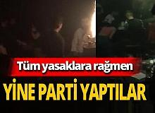 İstanbul'da koronavirüsü hiçe sayıp gece kulübünde parti yaptılar