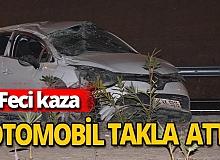 İzmir'de otomobil takla attı: Can kaybı var!