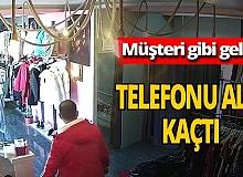 Konya'da müşteri kılığında hırsızlık!
