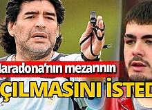 Maradona'nın oğlu olduğunu iddia eden  Santiago Lara DNA testi istedi! Maradona'nın mezarı açılabilir