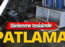 Mersin'in Silifke ilçesinde dinlenme tesisinde su tankı patladı: 1 yaralı