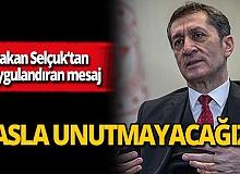 """Milli Eğitim Bakanı Ziya Selçuk: """"Şehit öğretmenlerimizi asla unutmayacağız"""""""