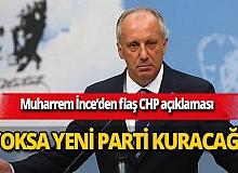 """Muharrem İnce: """"CHP'yi düzeltebilirsek düzelteceğiz. Yoksa parti kuracağız"""""""
