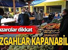 Pazarcılara 'koronavirüs' cezası: Tezgahları kapatıldı