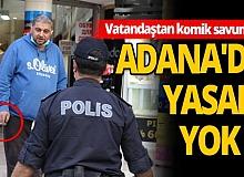 Polisi karşısında görünce Antalya'ya geldiği için pişman oldu!