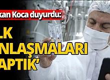 Sağlık Bakanı Fahrettin Koca açıkladı! Aşı ile ilgili ilk anlaşmalar yapıldı