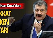 Sağlık Bakanı Fahrettin Koca'dan hafta sonu sokağa çıkma kısıtlamasına ilişkin uyarı
