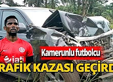 Eski futbolcu trafik kazası geçirdi
