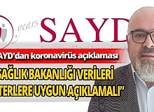 SAYD Genel Sekreteri Mehmet Gem'den Sağlık Bakanlığı'na veri çağrısı