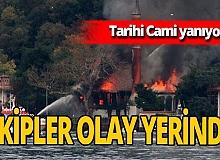 Son dakika! Tarihi Vaniköy Camii'nde yangın çıktı