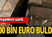 Taksici aracında 300 bin euro buldu!