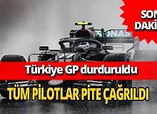 Türkiye GP yağmur nedeniyle durduruldu!