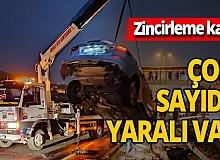 Zonguldak'ta zincirleme kaza çok sayıda yaralı var