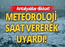 4 Aralık 2020 Perşembe Antalya'da hava durumu