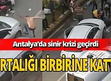 Antalya'da yakınını yaralı gören genç sinir krizi geçirdi