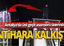 Antalya'da eşi terk edince intihara teşebbüs etti
