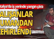 Antalya'da iş yerinde çıkan yangın apartman sakinlerini korkuttu