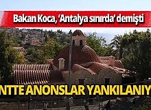 Antalya'da camilerden maske, mesafe ve hijyen uyarıları yapılıyor
