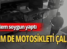 Muğla'da dönerciyi soyan hırsız dükkanın motosikletini de alıp kaçtı
