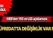 SON DAKİKA! MEB'den YKS ve LGS açıklaması