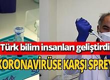 Türk bilim insanları koronavirüse karşı burun spreyi geliştirdi