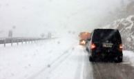 Antalya'da ulaşıma kar engeli