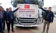 Mehmetçik için 26 tonluk sebze- meyve gönderildi