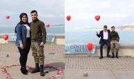 Antalya'da sürpriz evlilik teklifine sürpriz konuk