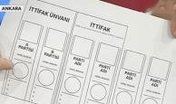 24 Haziran'da kullanılacak oy pusulası