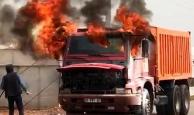 Antalya'da alev alev yandı