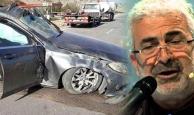 Ünlü sanatçı kaza geçirdi
