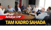 Antalya CHP tam kadro sahada